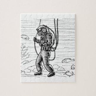 ヴィンテージのダイバー-海の潜水服 ジグソーパズル