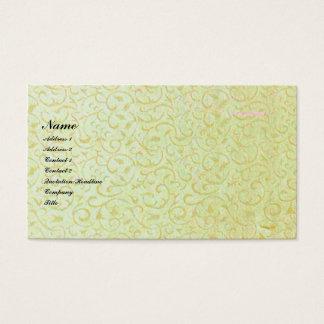 ヴィンテージのダマスク織の名刺 名刺