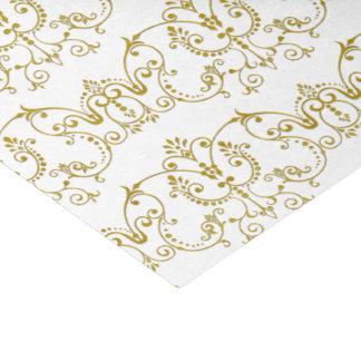 ヴィンテージのダマスク織は金ゴールドを飾ります + あなたの背景 薄葉紙
