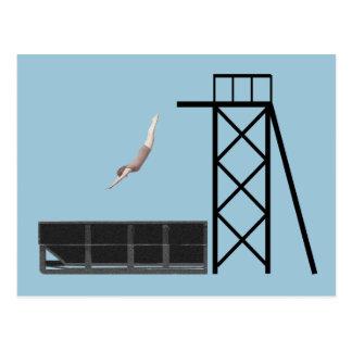 ヴィンテージのダンプスターのダイビングのギフト ポストカード