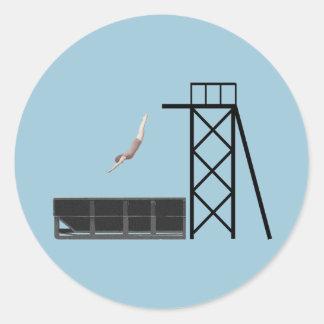 ヴィンテージのダンプスターのダイビングのギフト ラウンドシール