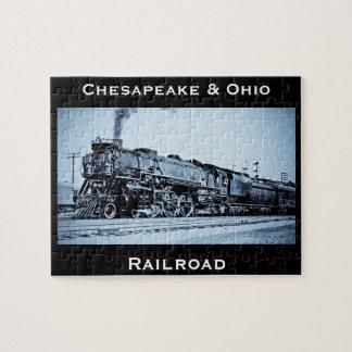 ヴィンテージのチェサピーク及びオハイオ州の鉄道列車エンジン ジグソーパズル