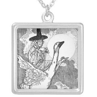 ヴィンテージのチャールズロビンソン著ビクトリアンなマザー・グース シルバープレートネックレス