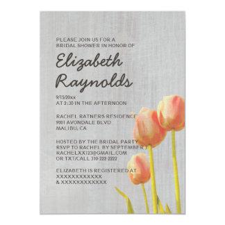 ヴィンテージのチューリップのブライダルシャワー招待状 カード