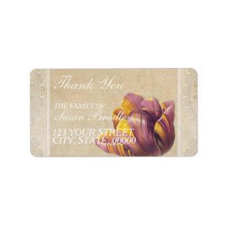 ヴィンテージのチューリップ家族はラベル感謝していしています ラベル