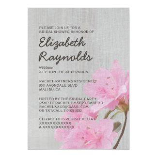 ヴィンテージのツツジのブライダルシャワー招待状 カード