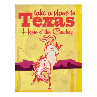 ヴィンテージのテキサス州旅行ポスタープリント ポストカード