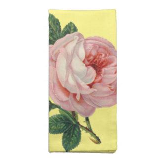 ヴィンテージのテーブルのバラ ナプキンクロス