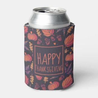 ヴィンテージのデザインの幸せな感謝祭 のクーラーボックス 缶クーラー