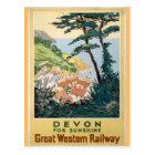 ヴィンテージのデボンの英国旅行広告 ポストカード