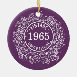 ヴィンテージのデマのワインのスタンプは、誕生年を加えます セラミックオーナメント