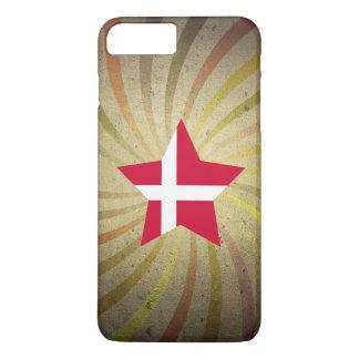ヴィンテージのデンマークの旗の渦巻 iPhone 8 PLUS/7 PLUSケース