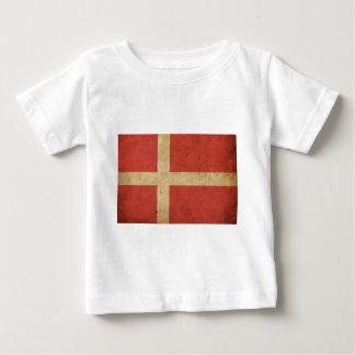 ヴィンテージのデンマークの旗 ベビーTシャツ