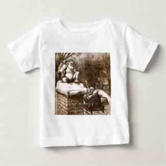 ヴィンテージのトマスNashのハープ奏者の週間1865年のサンタ ベビーTシャツ
