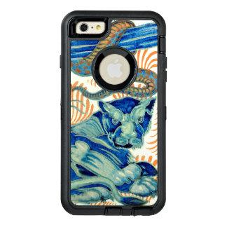 ヴィンテージのトラおよびヘビのデザイン オッターボックスディフェンダーiPhoneケース