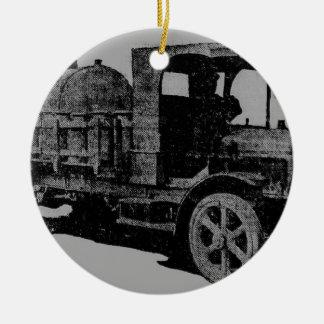 ヴィンテージのトラックの旧式な一見のカッコいいのsteampunkの芸術 セラミックオーナメント