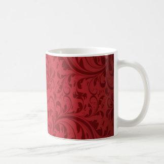ヴィンテージのトレンディーのダマスク織 コーヒーマグカップ