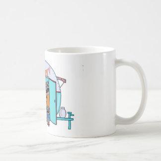 ヴィンテージのトレーラーのパグ コーヒーマグカップ