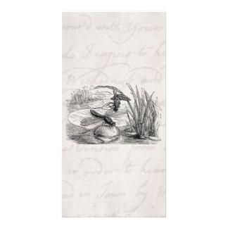 ヴィンテージのトンボの旧式なトンボの羊皮紙 カード