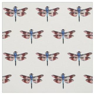 ヴィンテージのトンボの絵のカラフル ファブリック
