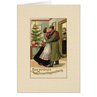 ヴィンテージのドイツの兵士のクリスマスの挨拶状 カード