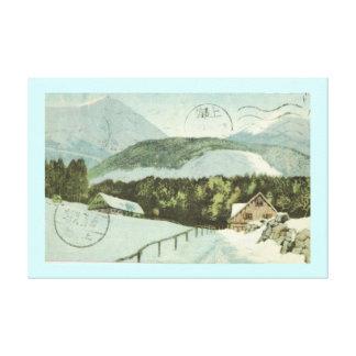 ヴィンテージのドイツの冬場面1926年 キャンバスプリント