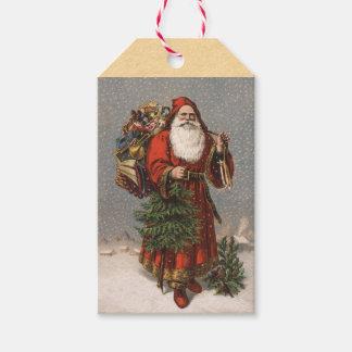 ヴィンテージのドイツ人のサンタクロースのクリスマスのギフトのラベル ギフトタグ