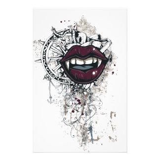 ヴィンテージのドラキュラの唇 便箋