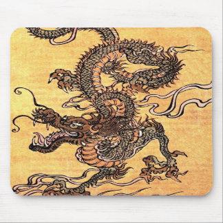 ヴィンテージのドラゴンのタペストリーのマウスパッド マウスパッド
