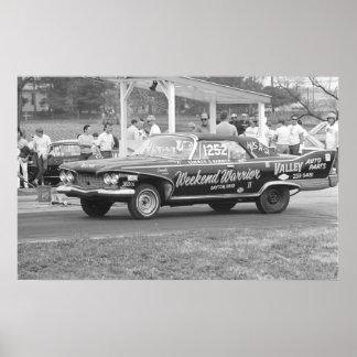 ヴィンテージのドラッグの競争- 1960年のプリマスの激怒 ポスター