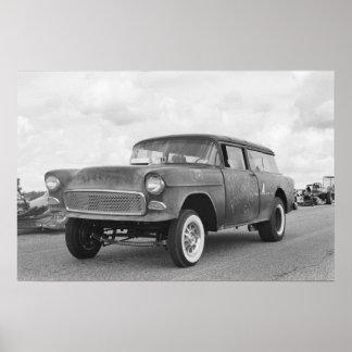 ヴィンテージのドラッグ- Chevyの遊牧民Gasser -ローリング・ストーン ポスター