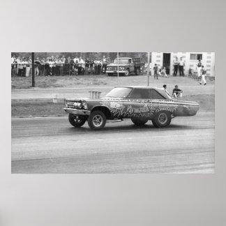 ヴィンテージのドラッグ- MaloneyプリマスAF/X ポスター