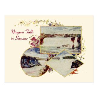 ヴィンテージのナイアガラ・フォールズの夏の郵便はがき ポストカード