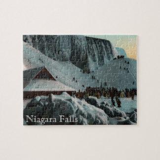 ヴィンテージのナイアガラ・フォールズの氷のパズル ジグソーパズル