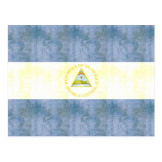 ヴィンテージのニカラグアのレトロの旗 ポストカード