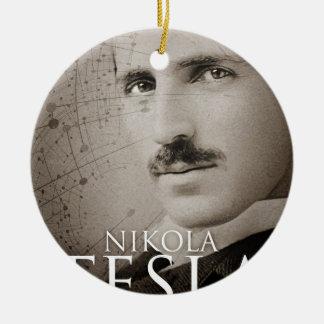 ヴィンテージのニコラ・テスラの写真 セラミックオーナメント