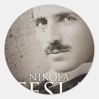 ヴィンテージのニコラ・テスラの写真 ラウンドシール
