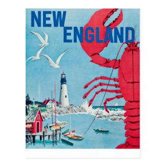 ヴィンテージのニューイングランドのロブスターの灯台旅行 ポストカード