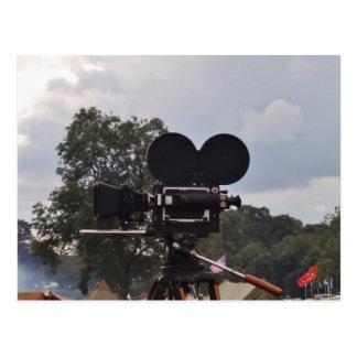 ヴィンテージのニュース映画のカメラ ポストカード