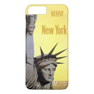 ヴィンテージのニューヨークのカスタムなモノグラムのケース iPhone 8 PLUS/7 PLUSケース