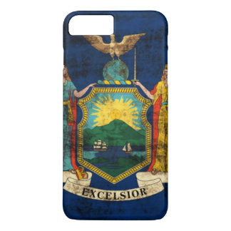 ヴィンテージのニューヨークのグランジな州の旗 iPhone 8 PLUS/7 PLUSケース