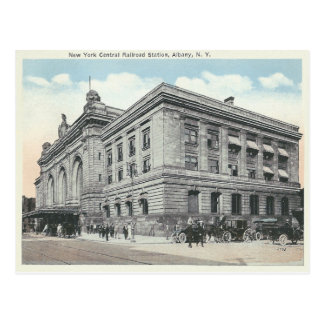 ヴィンテージのニューヨークの駅アルバニー、ニューヨーク ポストカード