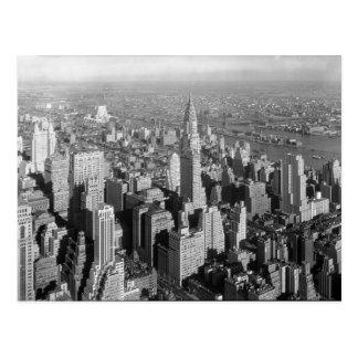 ヴィンテージのニューヨークシティのアールデコの超高層ビル ポストカード