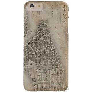 ヴィンテージのニューヨークシティの地図 BARELY THERE iPhone 6 PLUS ケース