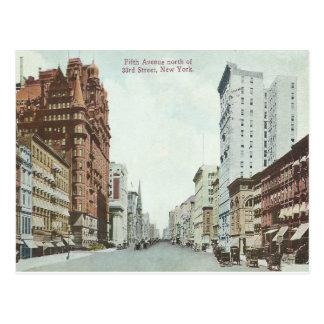 ヴィンテージのニューヨークシティの第5道 ポストカード