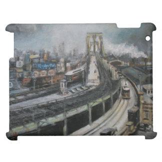 ヴィンテージのニューヨークシティブルックリン橋の絵画 iPadカバー