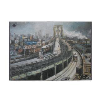 ヴィンテージのニューヨークシティブルックリン橋の絵画 iPad MINI ケース