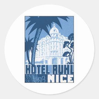 ヴィンテージのニースフランスのホテル ラウンドシール
