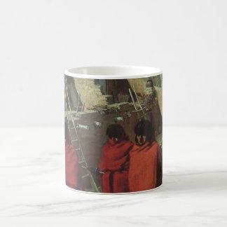 ヴィンテージのネイティブアメリカン、同類ルイ著ホピー族の村落 コーヒーマグカップ