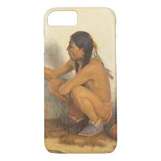 ヴィンテージのネイティブアメリカン、Couse著インドの芸術家 iPhone 8/7ケース